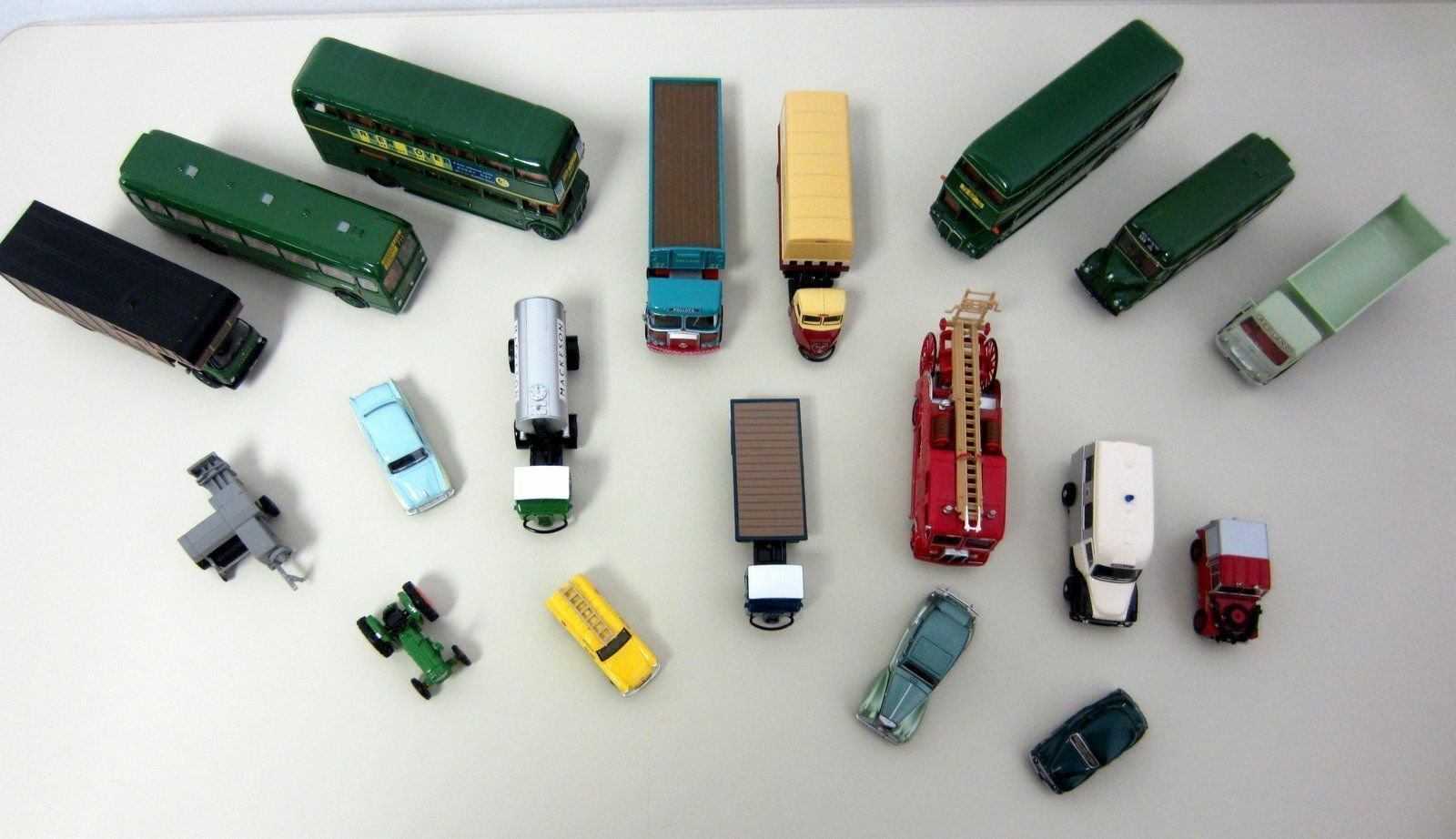 OXFORD DIECAST 1 76 Lot 18+ Vehicles Buses Fire Service Ambulance Trailers Lorry