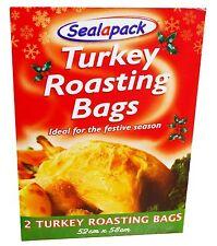 2 Turkey Roasting Bags Bag Perfect For Festive Seasons Christmas  52 x 58cm