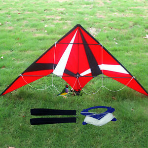 NEW-1-8m-Red-Professional-dual-line-control-stunt-Kite-with-flying-tools-Toys