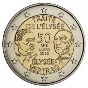 Piece 2 Euros Commemorative France 2013 50 Ans Traite De L Elysee Ebay