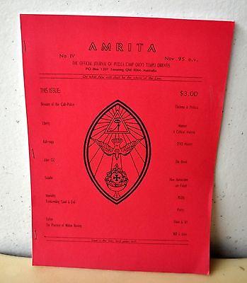 AMRITA Journal No. 4 Puella Camp OTO Australia Aleister Crowley Sex Magick RARE!