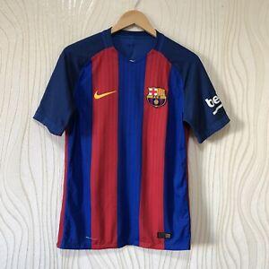 Tendencia Intercambiar Practicar senderismo  Coincidencia de vapor de Barcelona 2016 2017 Hogar Camiseta De Fútbol  Jersey Nike 776846-481 | eBay