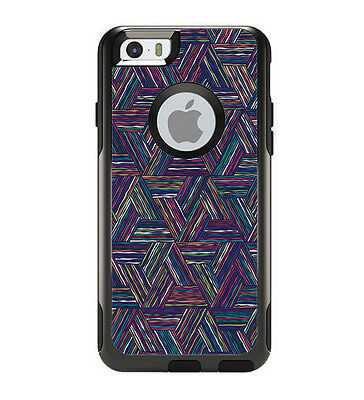 Skin Decal for Otterbox Commuter iPhone 6 Case  / Triangle Weave