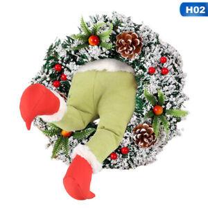 Christmas Wreath Christmas Santa Wreath Christmas Decor Christmas Door Decor Santa Claus Wreath Santa Wreath Christmas Door Wreath