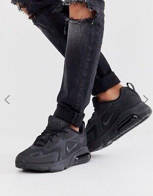 New Mens Nike Air Max 200 Women's in Black/Black Colour Size 10   eBay