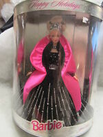Mattel Happy Holidays Barbie Blonde 1998 Black Dress - - 20200 (10r)