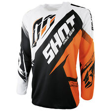 NEW ADULT SHOT DEVO SQUAD BLUE YELLOW MOTOCROSS MX ENDURO MTB DH JERSEY