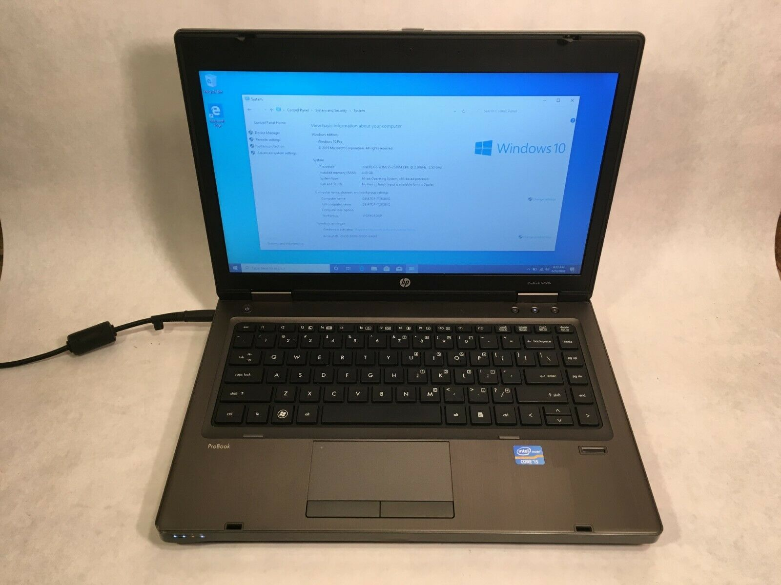 "HP ProBook 6465b 14"" Laptop AMD 1.6GHz 4GB RAM 250GB HDD Windows 10"