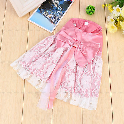 Pet Puppy Small Dog Cat Lace Skirt Princess Tutu Dress Clothes Apparel Costume M