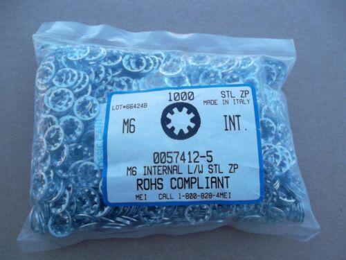 M6 Internal tooth lockwasher 1000pc steel zinc plated 6mm screw bolt washer ROHS