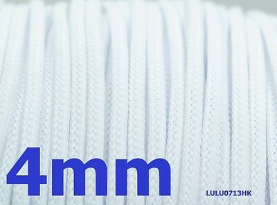 4mm White Expandable Braided DENSE Cable Sleeve x5m