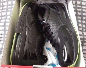best sneakers 040b6 93dbb Image is loading Nike-Air-Maxim-1-Black-Lime-Sprinter-Green-