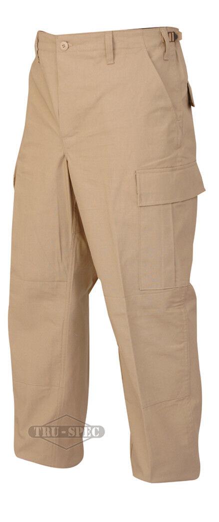 Tru-Spec Khaki BDU Pants 100% Cotton RS