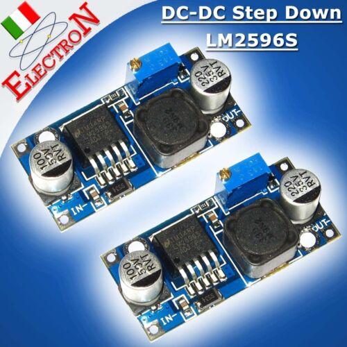 2 X Convertitore regolabile DC-DC step down LM2596S alimentatore 1,25V-30V 2 A