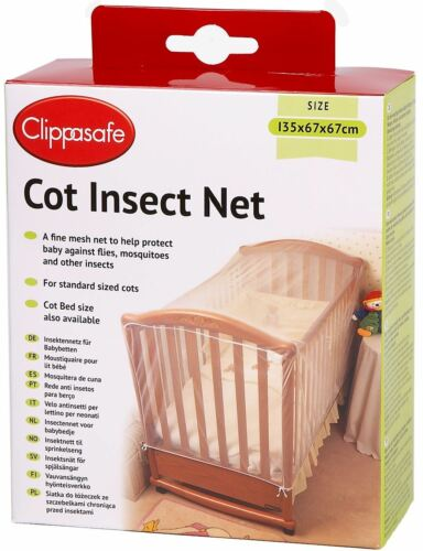 Clippasafe COT INSECT NET//MESH Baby//Child//Kids Nursery Home Safety Proofing BN