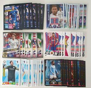 2019-2020-Topps-Panini-Football-Cards-EPL-UEFA-Lot-of-100-cards-inc-20-shiny