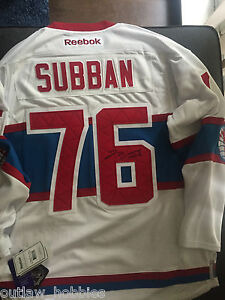 innovative design f0ab3 4ccdc Details about Montreal Canadiens PK Subban Winter Classic Signed  Autographed L Jersey COA BNWT