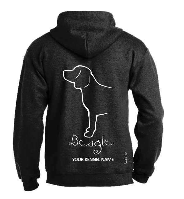 Beagle    Dog Breed Pullover Hoodie  Exclusive Dogeria Design Adult Dimensione 39aca7