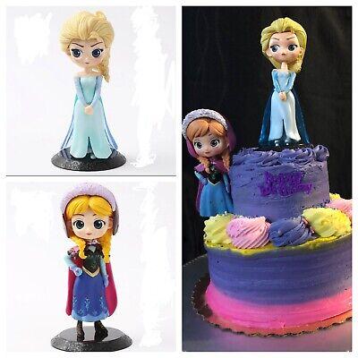 Frozen Cake topper Anna Elsa PVC Figure Cake Topper ...