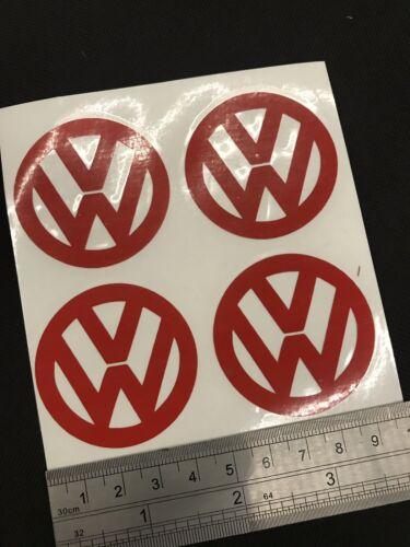 Vw Reflective Red Decal Sticker Door Shut X4 45mm