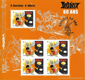 France-2019-Bloc-Asterix-60-ans-Premier-Jour-5v-MNH-Neuf