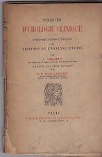 PRECIS D UROLOGIE CLINIQUE INTERPRETATION CHIFFRES DE L ANALYSE D URINE  LEMATTE