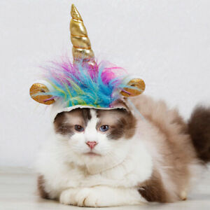 Details about Cat Halloween Costume Cats Unicorn Headgear Hat For Halloween  Christmas Party