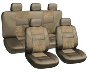 Autoschonbezuege-Autoschonbezug-Kunstleder-Autositzbezuege-KUNST-LEDER-LUX-Beige