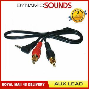 CT29AX01-1-Meter-Lang-3-5mm-Kopfhoererbuchse-2-Rca-Doppel-Phono-Aux-Eingang-Kabel