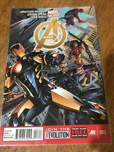 AVENGERS COMIC BOOK 003 Marvel Now! Hickman Opena White