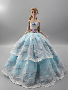 green Fashion Princess Party Dress//One-piece//Gown For 11.5in.Doll