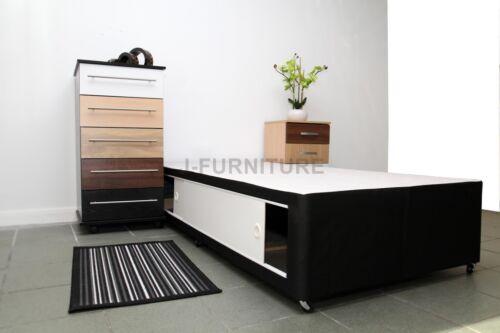 2ft6 3ft 4ft 4ft6 5ft Divan Bed Base Cream Black Storage Headboard Mattress.SALE