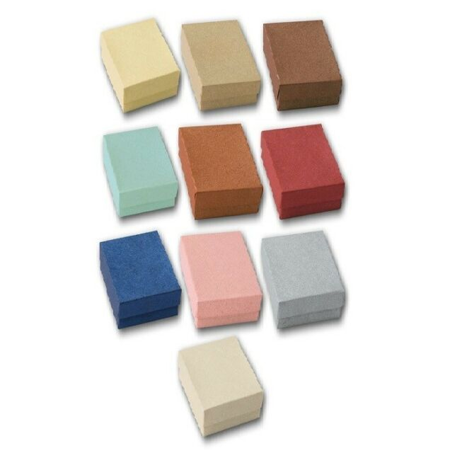 LOT OF 20~50~100 EMBOSSED COTTON FILLED BOX MIXED JEWELRY BOXES GIFT BOX <DEAL!>