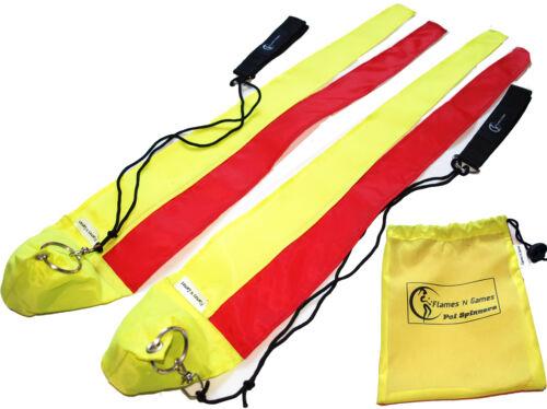 """Yellow//Orange Kids /""""Lizard/"""" Practice Poi Poi Toy Fabric Poi"""
