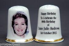 Happy Birthday To Dame Julie Andrews 80 Years China Thimble B/142