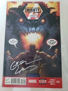 MIGHTY-AVENGERS-14-2014-MARVEL-COMICS-SIGNED-by-GREG-LAND-1ST-PRINT-NM