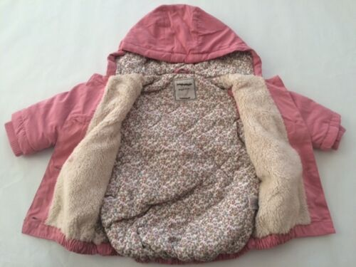 New baby girls ex high street pink beautiful winter coat age 3-6 6-9 9-12 months