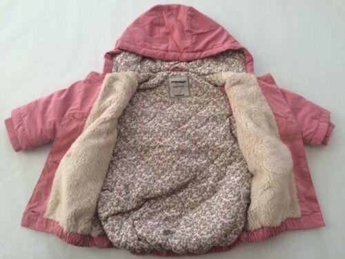 Nuevo Bebé Niñas Ex High Street rosa Edad Hermosa Abrigo De Invierno 3-6 6-9 9-12 meses