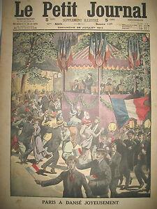 BAL-14-JUILLET-PARIS-7e-CENTENAIRE-BOUVINES-PHILIPPE-AUGUSTE-PETIT-JOURNAL-1914