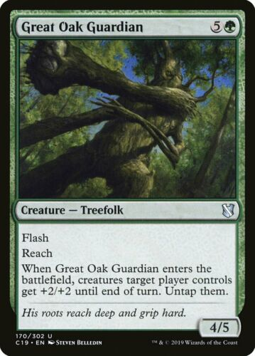 C19 Great Oak Guardian x4x Commander 2019 NM//Fresh MtG