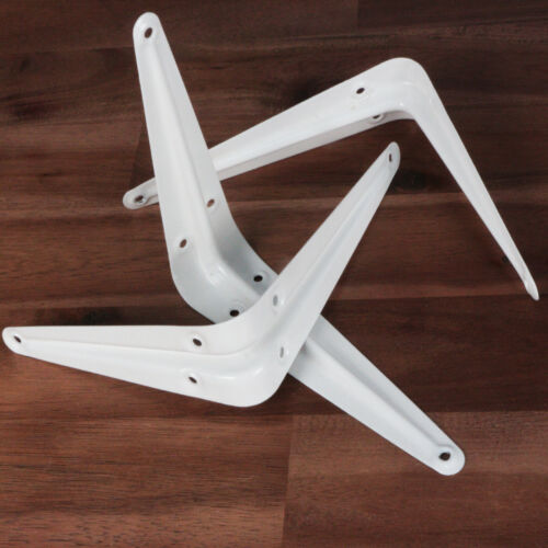 Regalträger Regalwinkel Regalbodenträger Regalsystem Regalkonsole Weiß 2 Stück