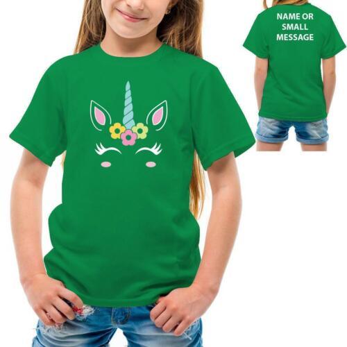 Personalised Unicorn Kids Boys girls Birthday Theme custom name Printed T-Shirt