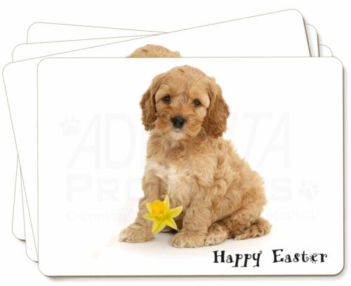 'Happy Easter' Cockerpoodle Picture Placemats in Gift Box, ADCP6DA1P