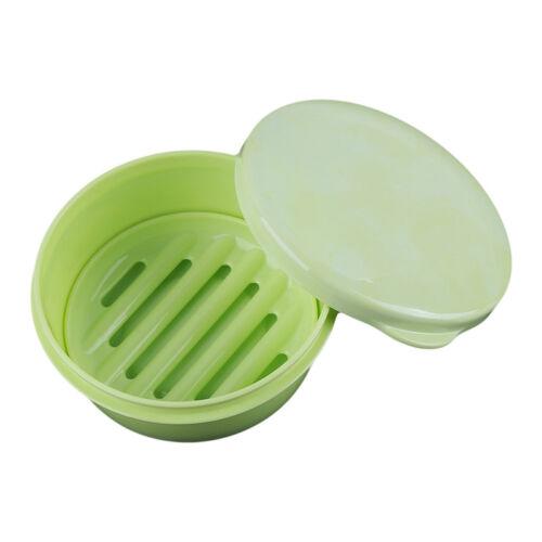 Bathroom Shower Soap Box Dish Storage Organizer Case Makeup Holder G