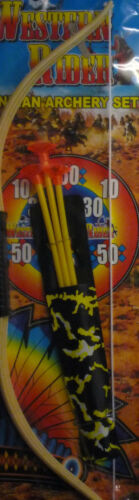 """Western Rider Toy Indian Archery Bow /& Arrow Set For Play or Fancy Dress 19/"""""""