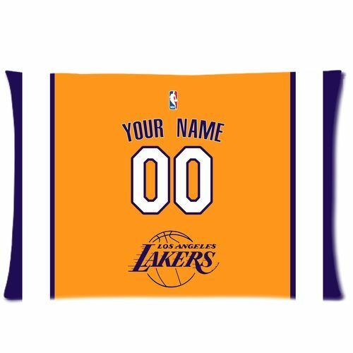 New Custom Los Angeles Lakers BasketBall Pillow Case With Your Name N Numbers