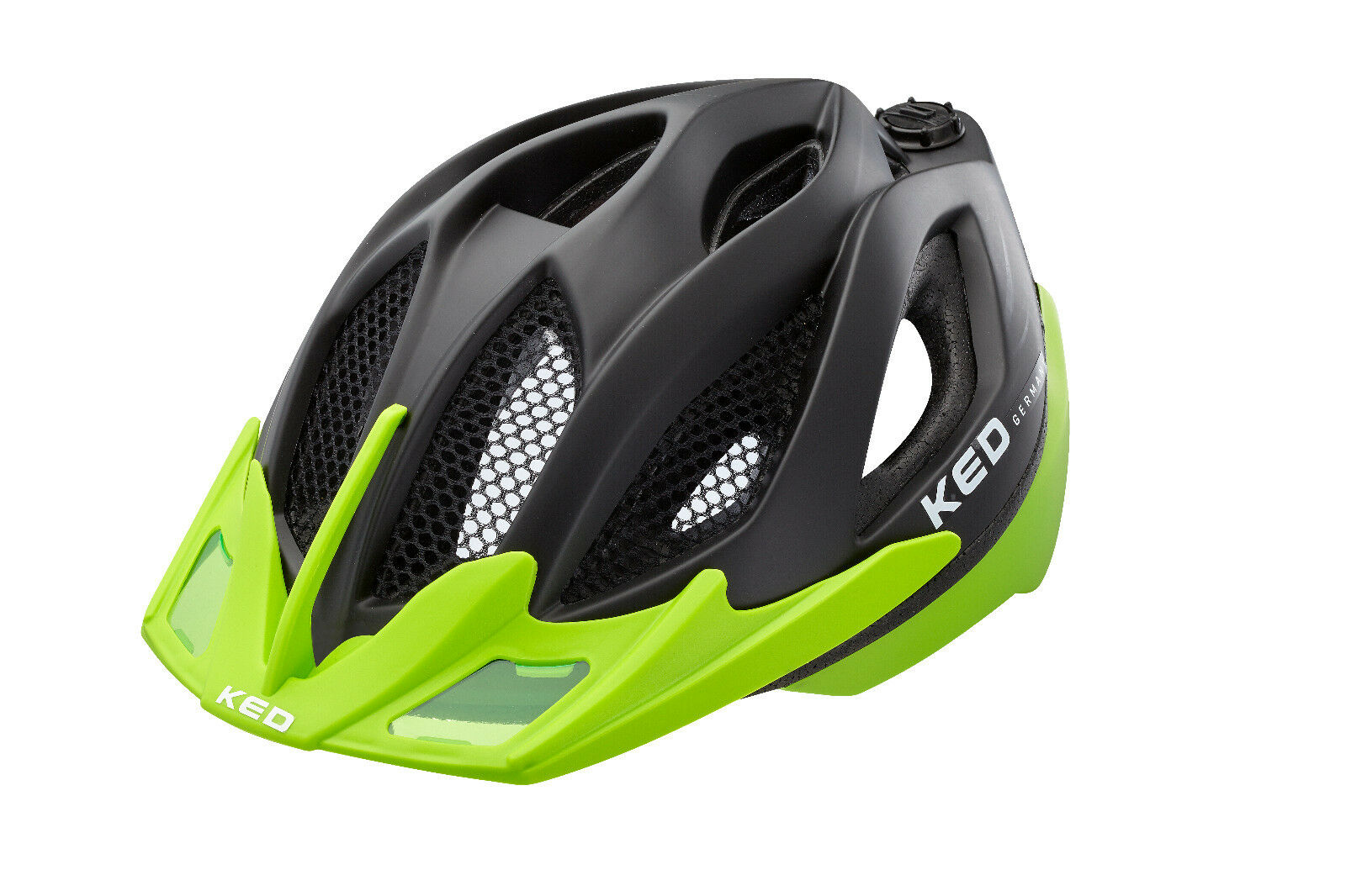 KED Fahrradhelm Spiri two Grün schwarz schwarz schwarz matt   Gr. M 52-58 cm   16302220 e53dd1