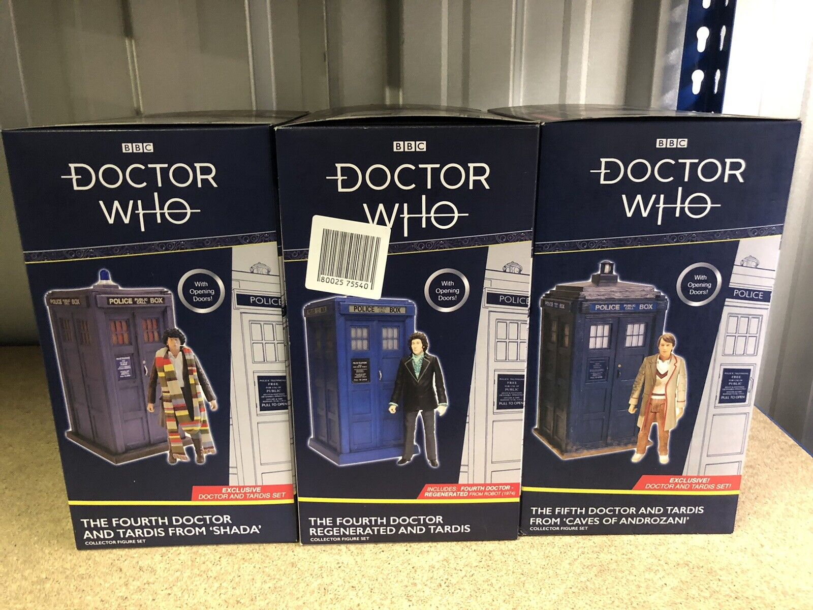 Doctor Who 4th & 5th Dr TARDIS Shada Caves of Androzani Classic Figure Sets X3