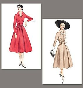 Retro-dress-SEWING-PATTERN-50s-fifties-style-Vintage-Vogue-2401-size-6-22-1950