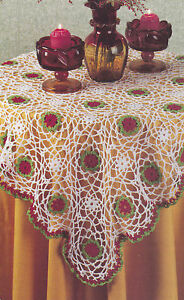 Crochet-Pattern-CHRISTMAS-TABLE-TOPPER-Tablecloth-Instructions